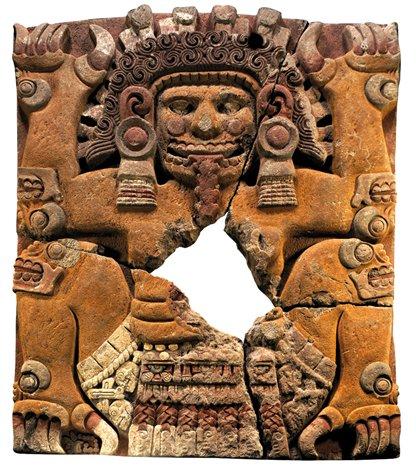 El monolito de Tlaltecuhtli, hallado junto al Templo Mayor.