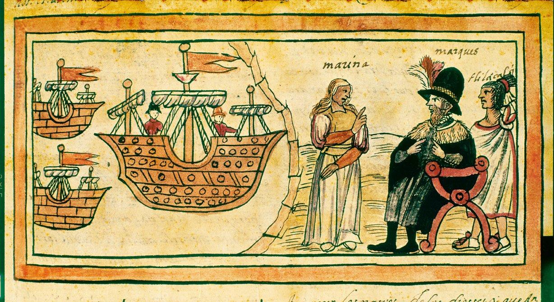 Doña Marina y el conquistador
