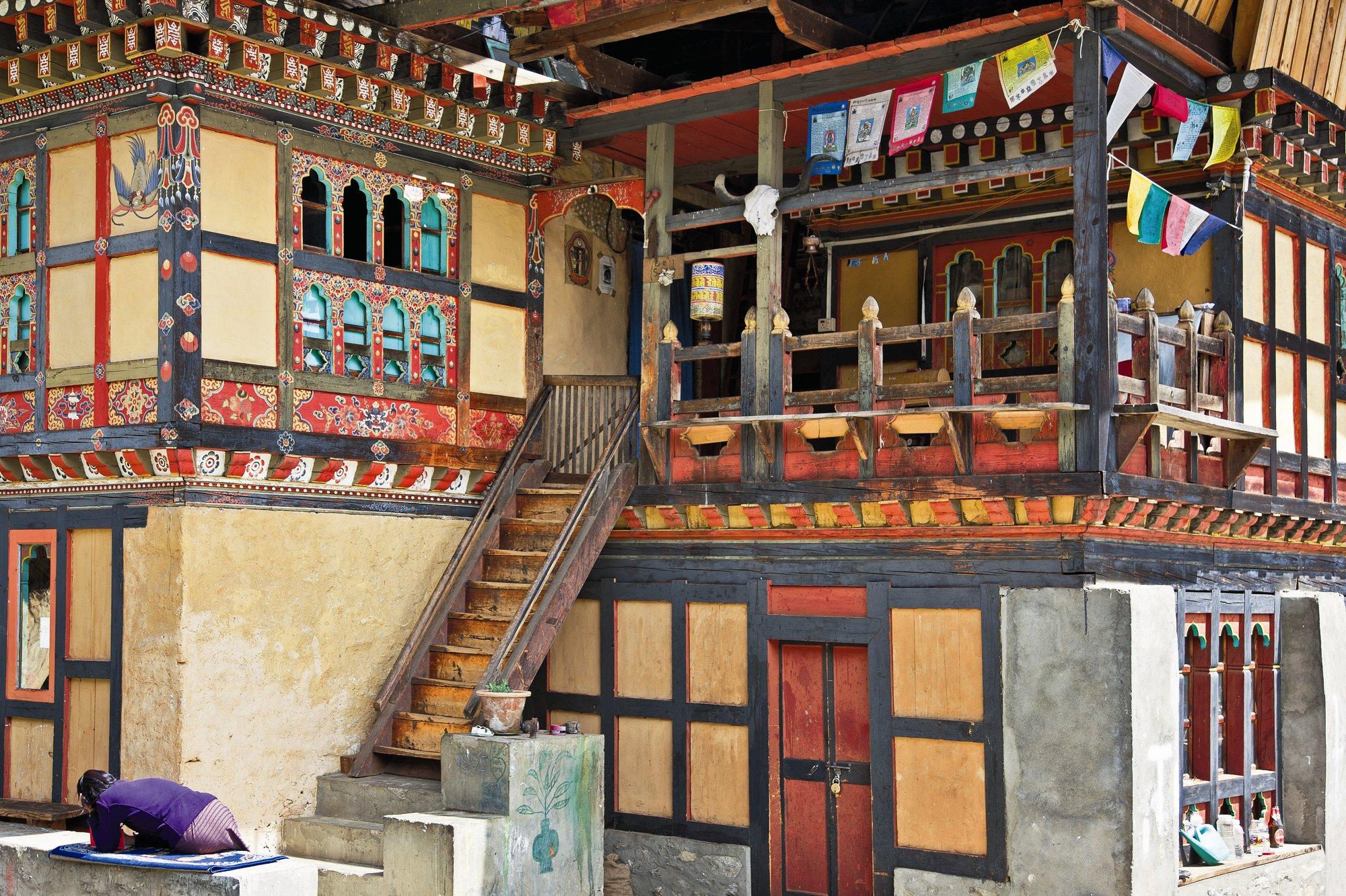 Las aldeas Butanesas. Aldeas butanesas