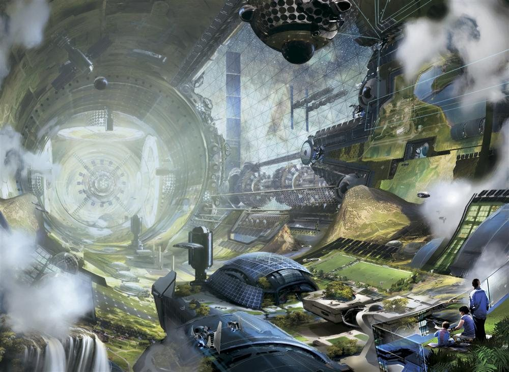 02-space-colony-art. Exploración espacial