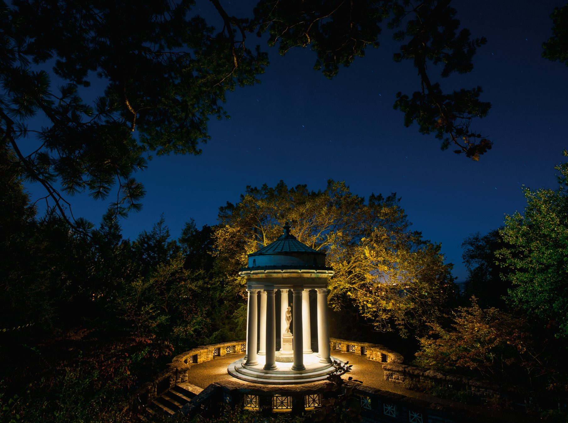 01-kykuit-sleepy-hollow-new-york. Jardines nocturnos