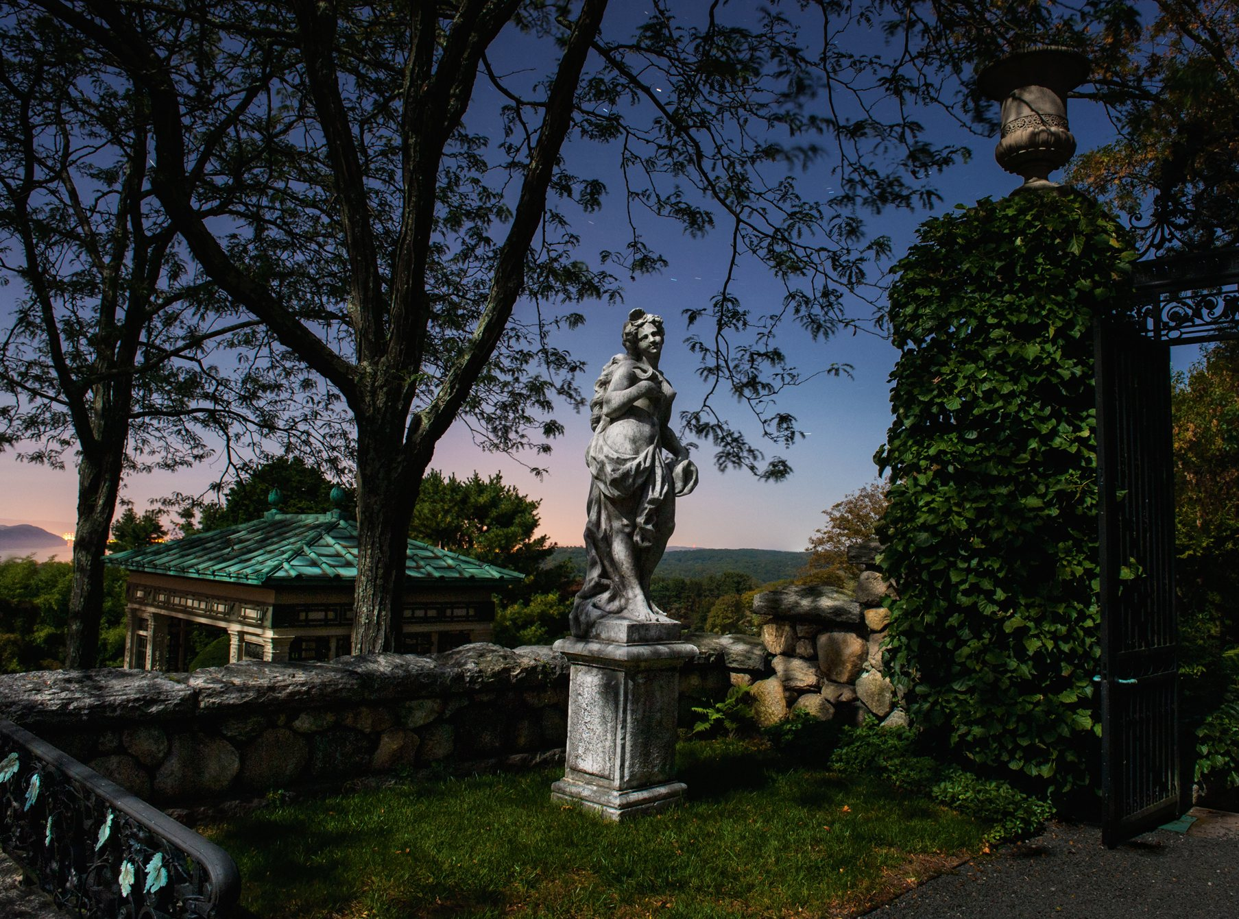 11-kykuit-designer-william-welles-bosworth. Jardines nocturnos