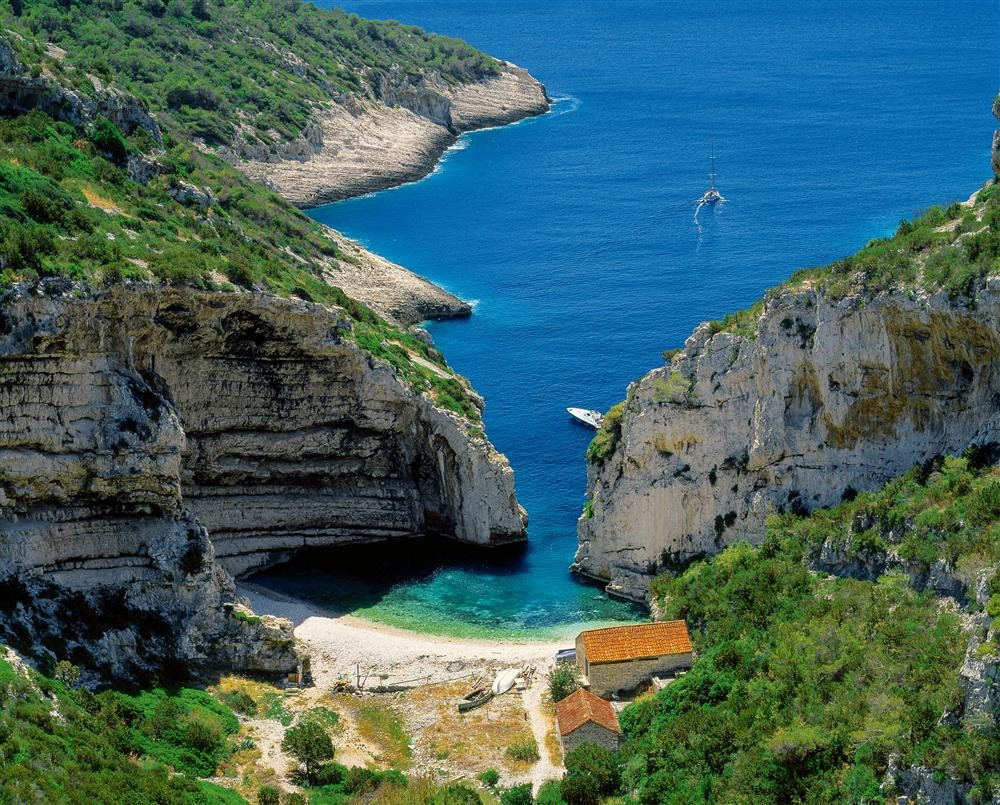 Playa Stiniva. Croacia