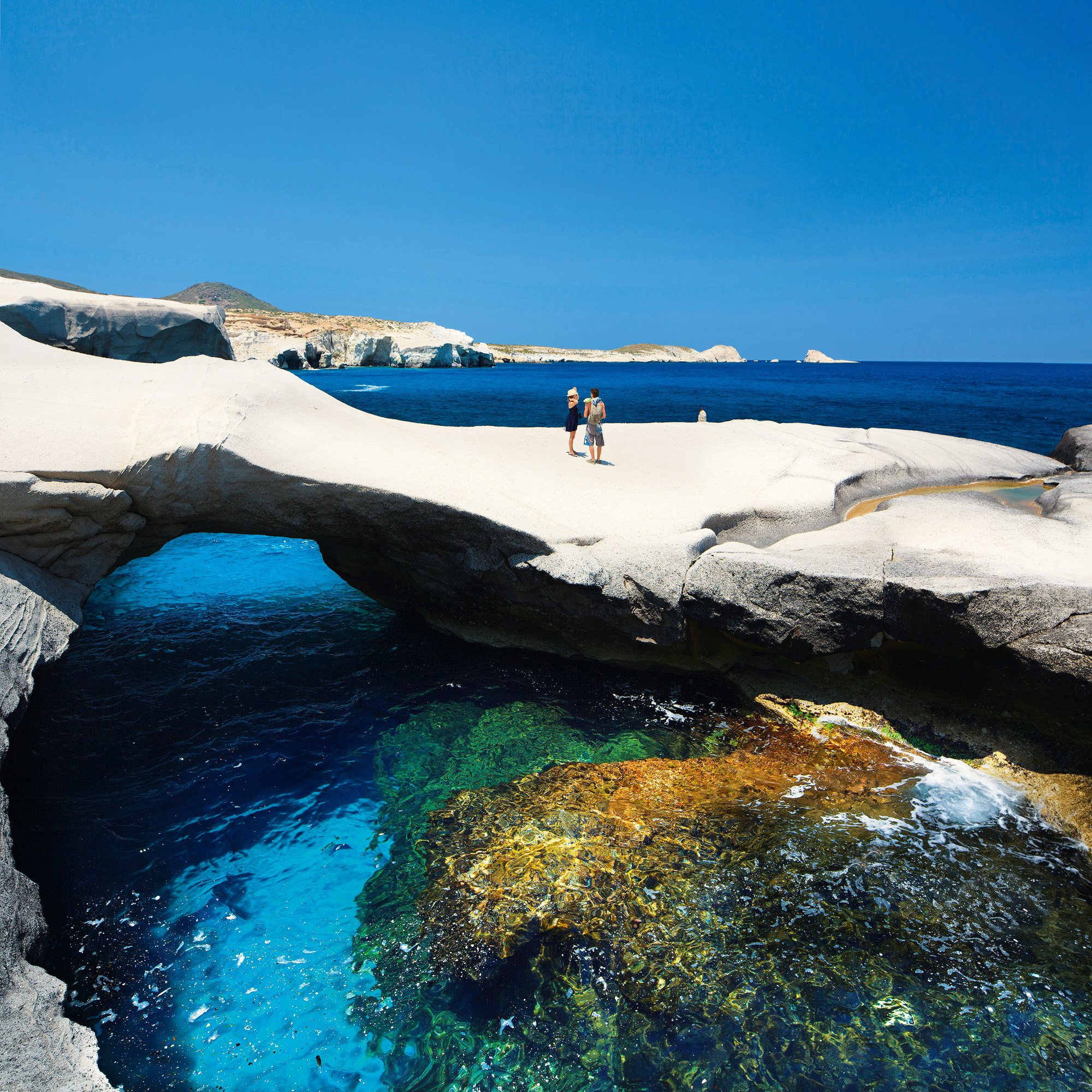 Sarakiniko. Isla de Milo. Grecia.