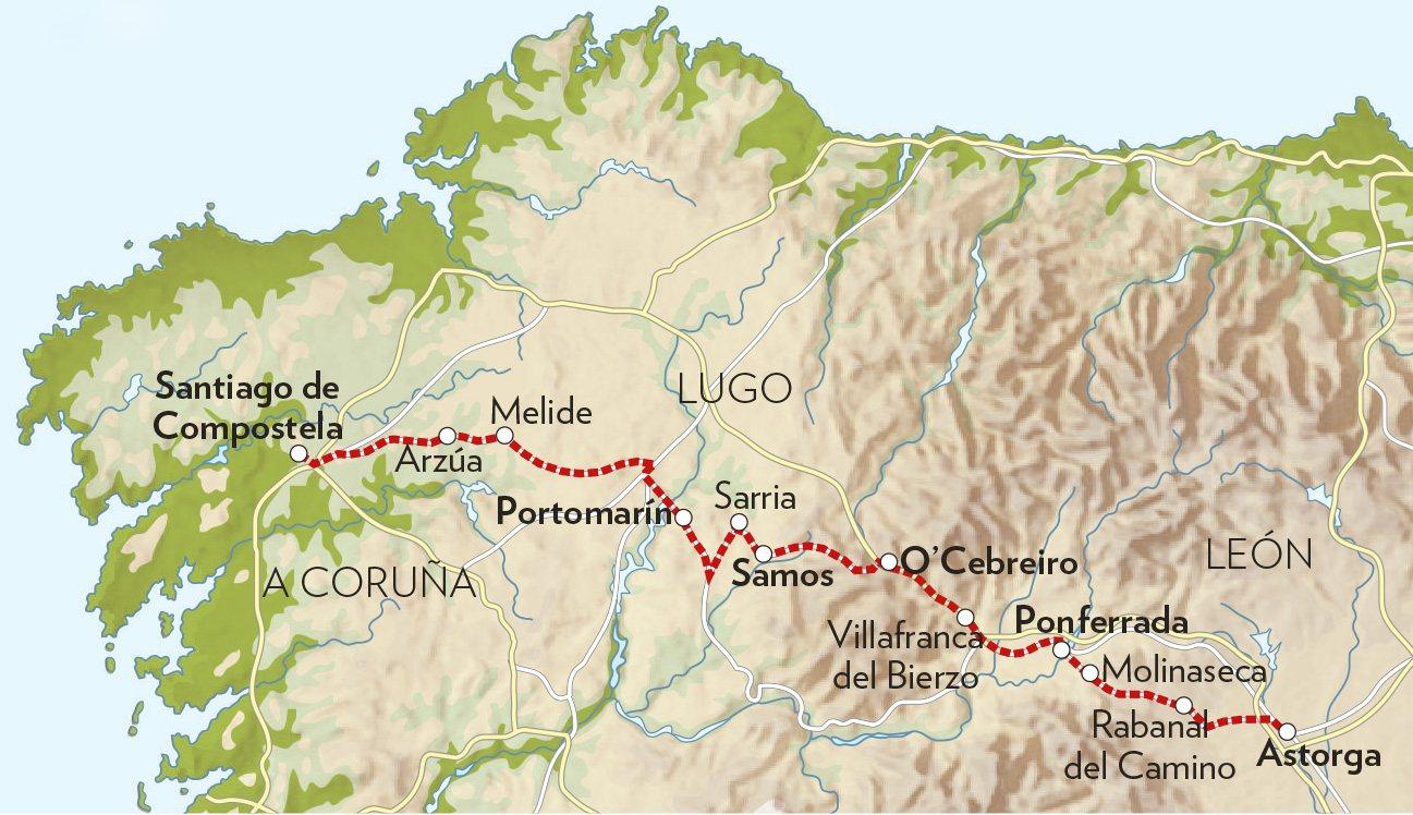 Camino franc s de astorga a santiago de compostela for Ruta del mueble sarria