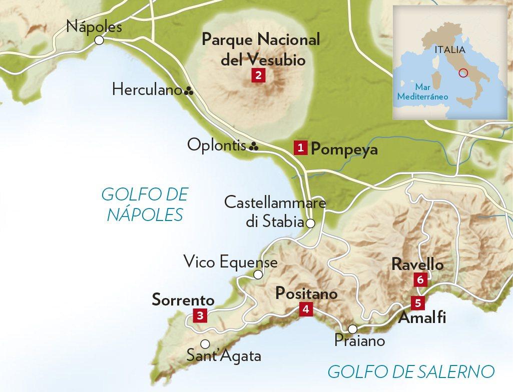 Ruta por Pompeya y la Costa Amalfitana