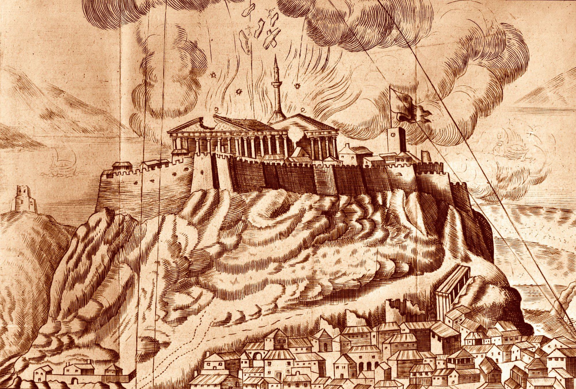 0118384 H. La explosión del Partenón en 1687