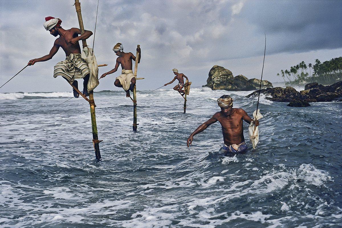 Pescadores con zanco, Sri Lanka.