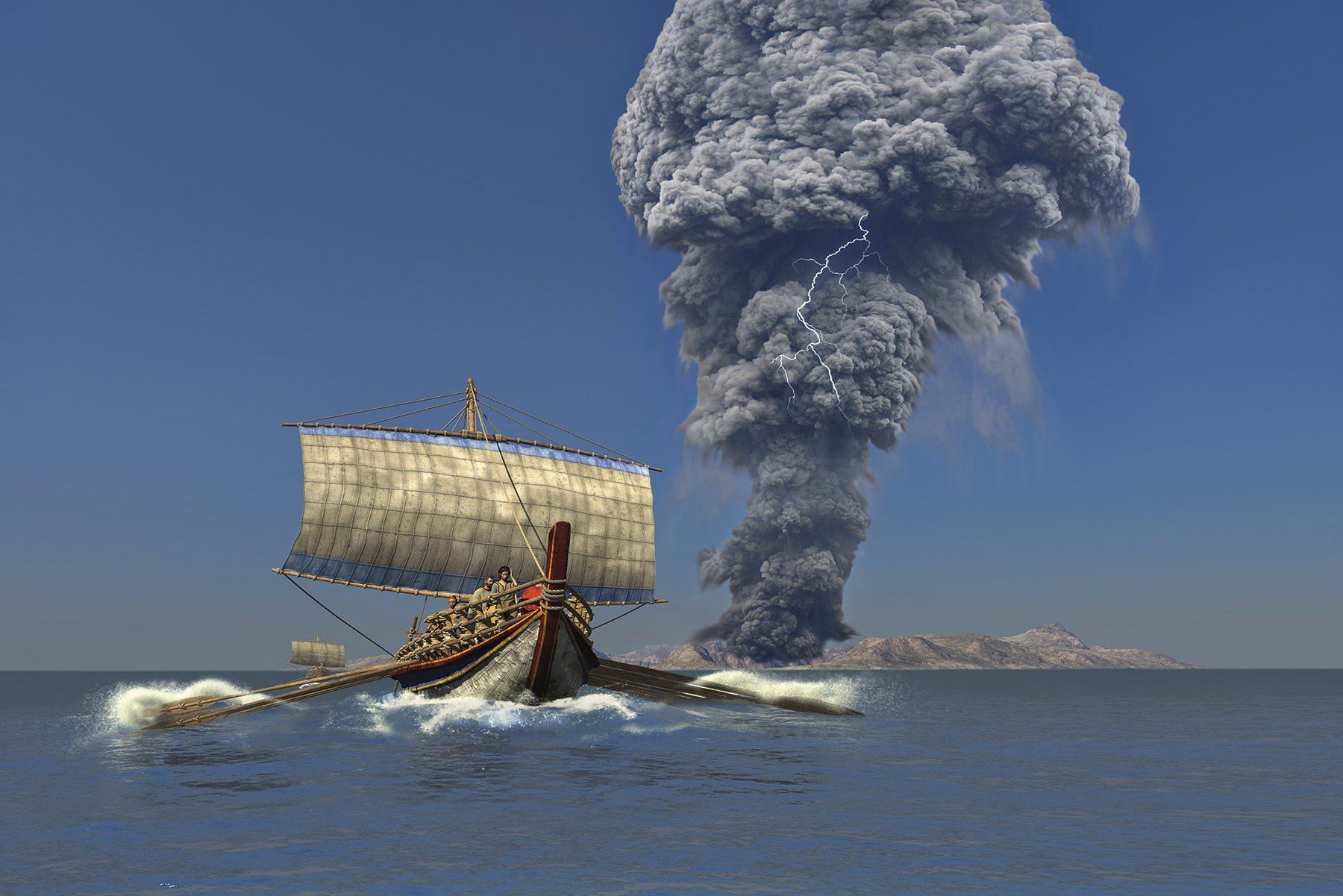 Resultado de imagen de erupción santorini