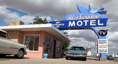 The Blue Swallon Motel. The Blue Swallon Motel. Nuevo México
