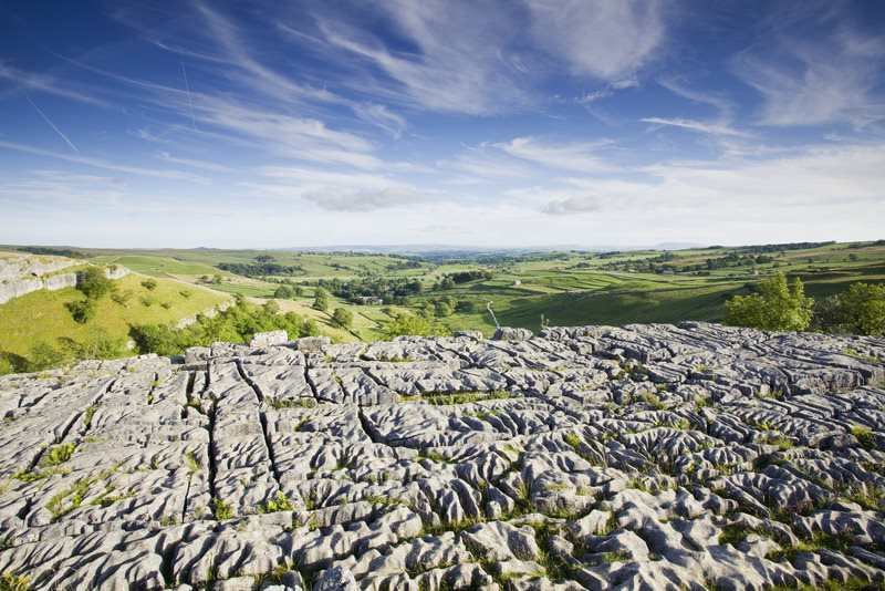 Malham Cove. Malham Cove, North Yorkshire, Inglaterra