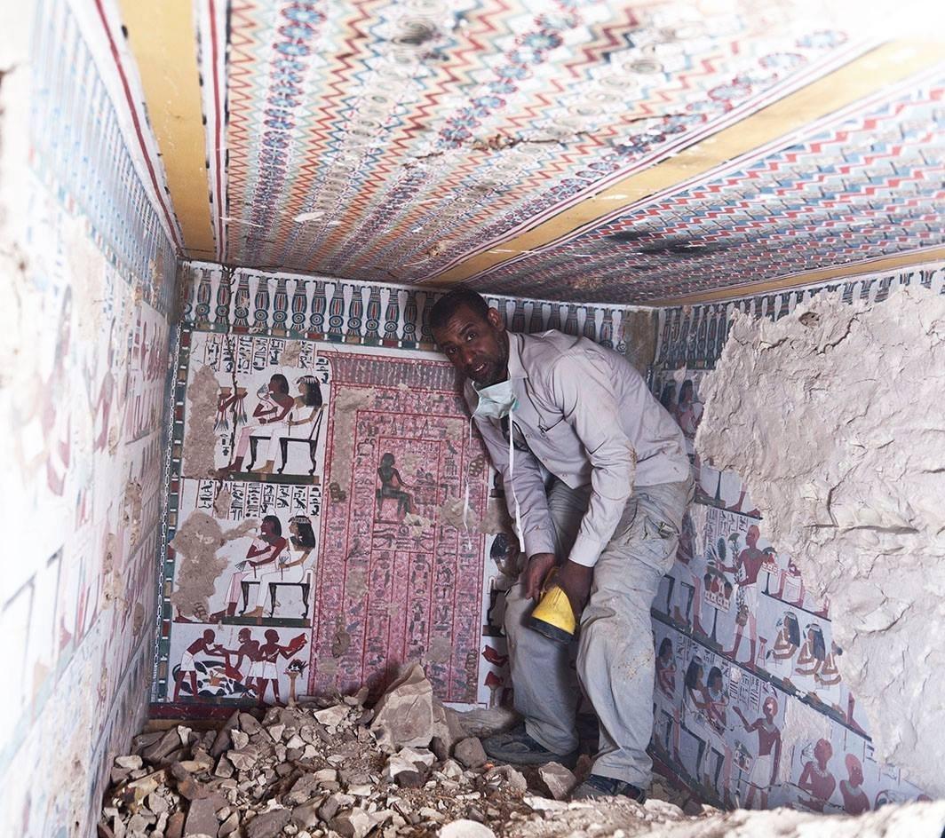 Importantes hallazgos en las inmediaciones de Luxor de las dinastías XVIII y XXV Tumba_de_la_dinastia_xviii_1064x944