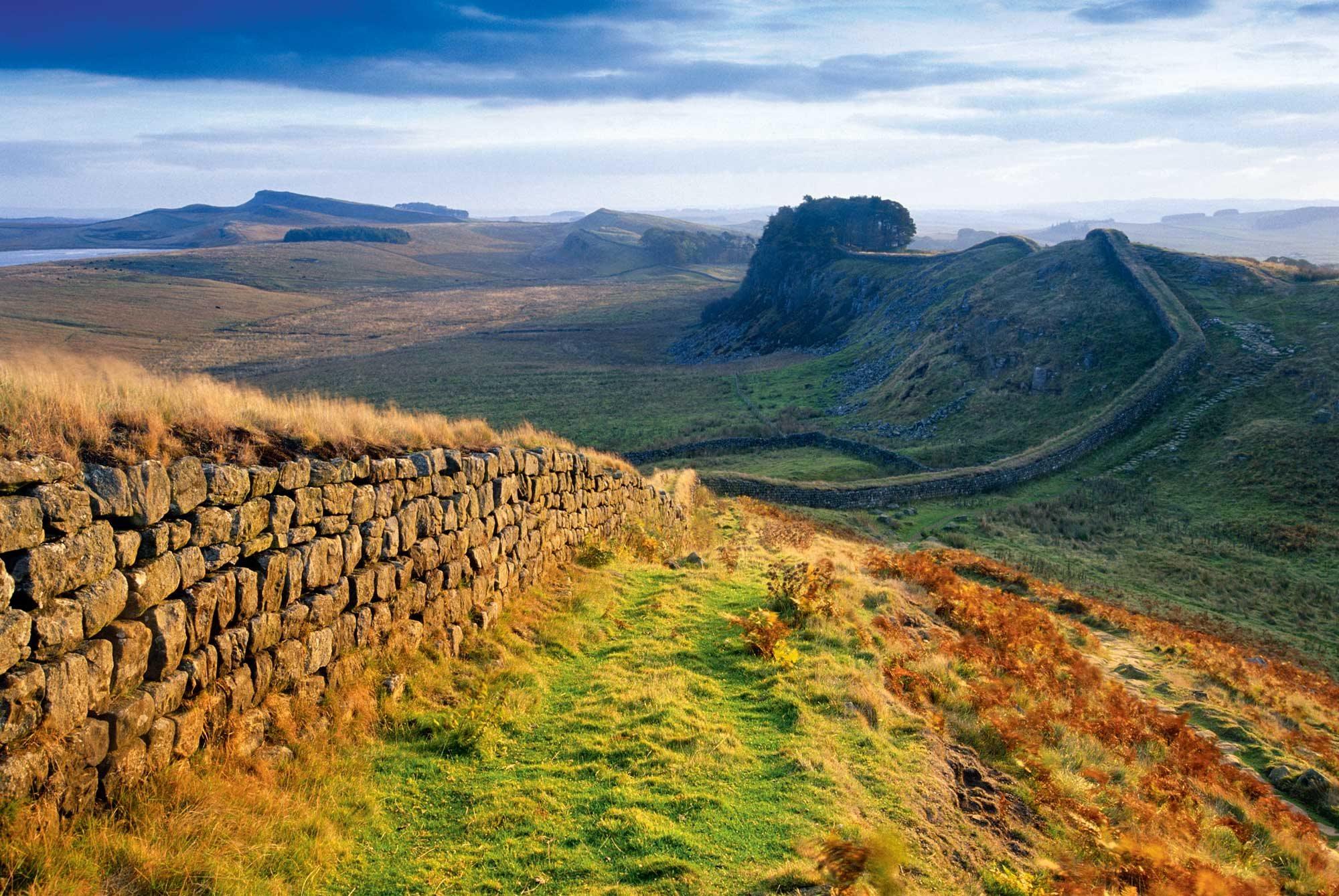 Lo que hoy nos queda del Muro de Adriano.