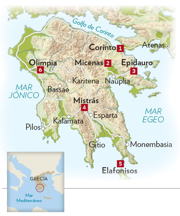 Grecia Ruta Por El Peloponeso Culturaclasica Com