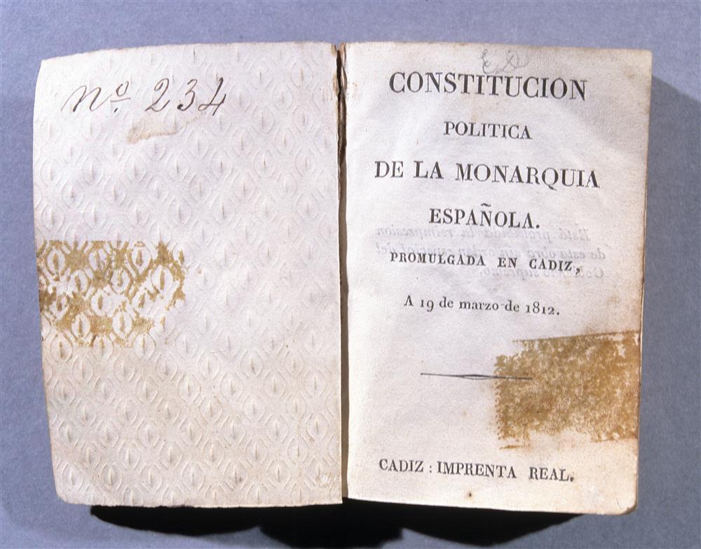 Constitución de la Pepa. Cádiz, 1812
