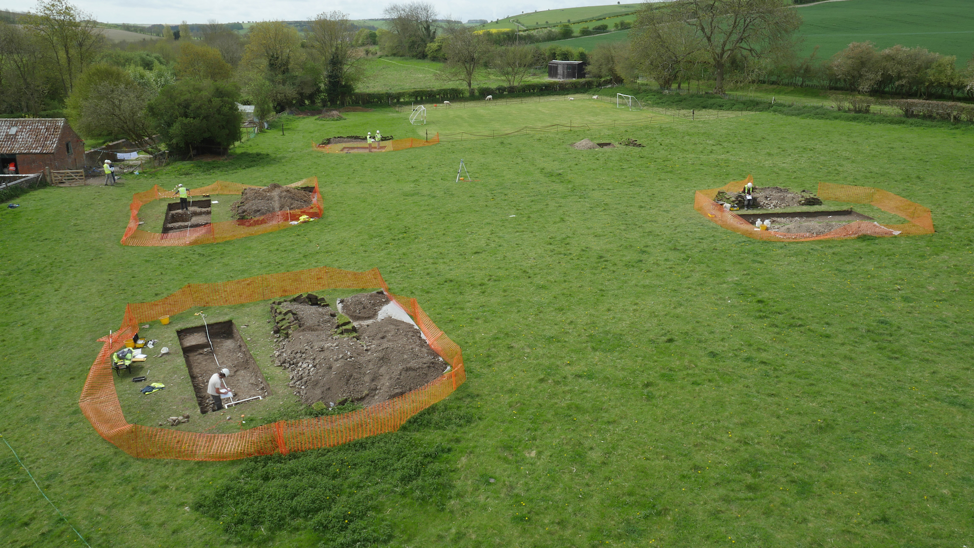 Villa romana descubierta en el jardín de un diseñador irlandés