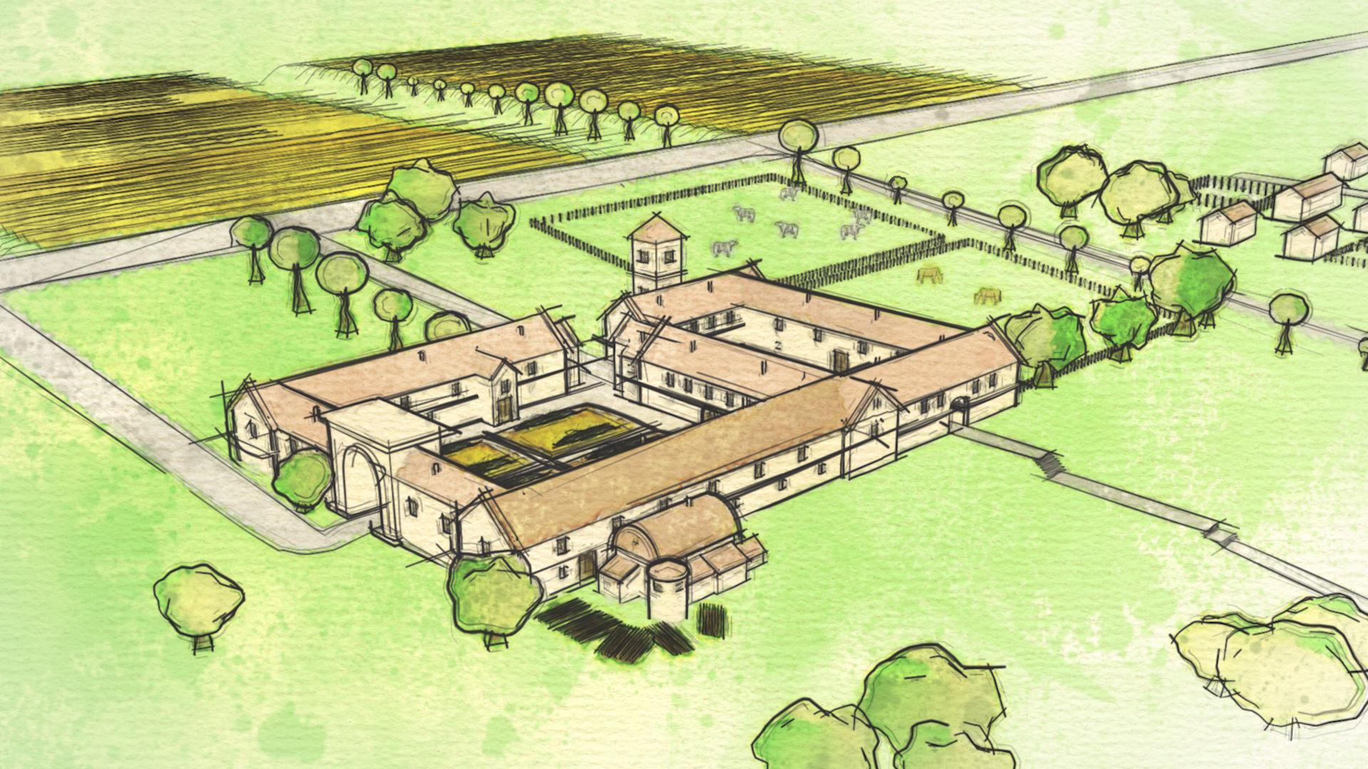 Encontr en su jard n restos de una villa romana hallazgo for Villas romanas