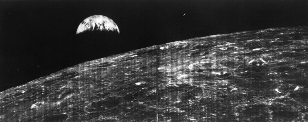 La primera vista de la Tierra desde la Luna