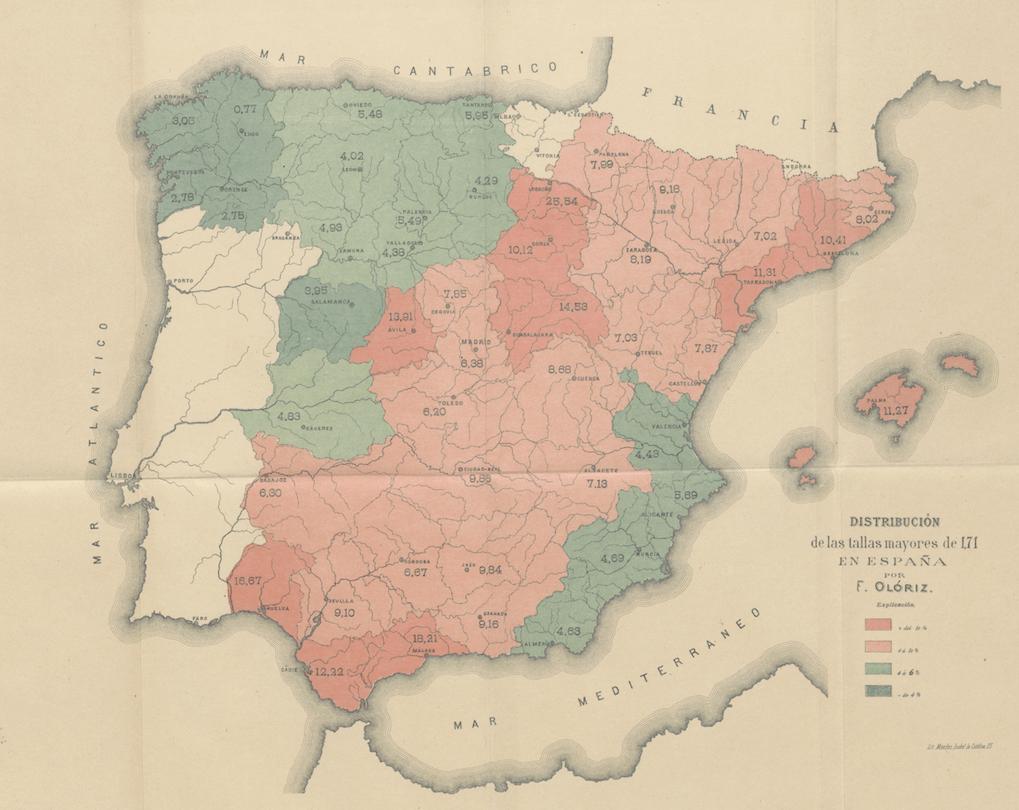 La talla humana en España