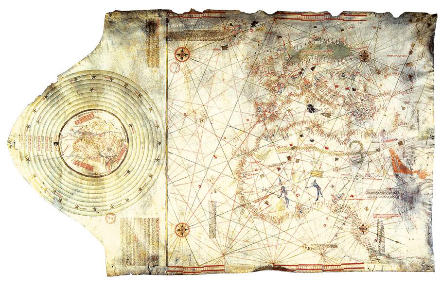 Carta náutica atribuida a Cristóbal Colón