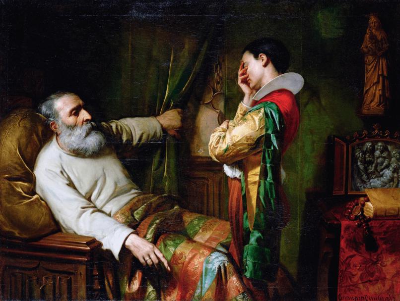 Colón al final de su vida. Óleo por Claude Jacquand. 1870. Museo de Le Havre