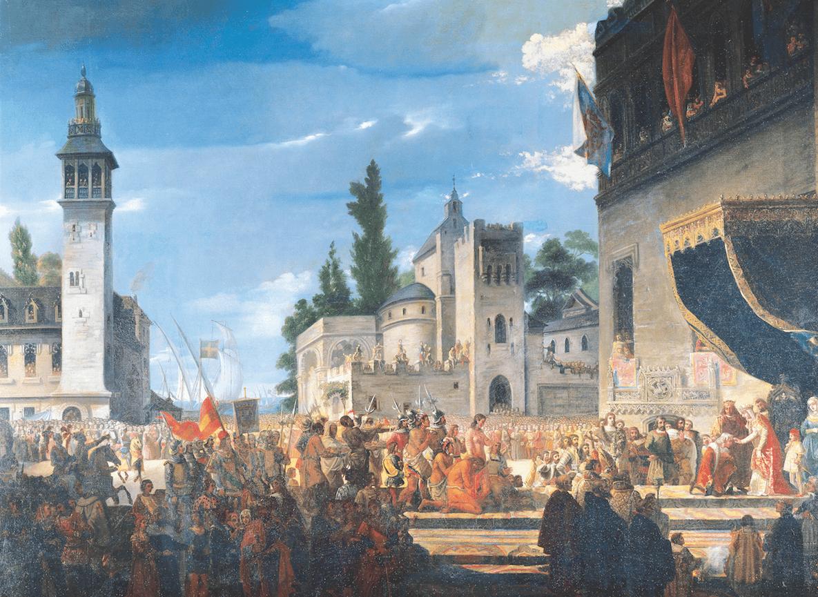Los Reyes reciben a Colón en Barcelona