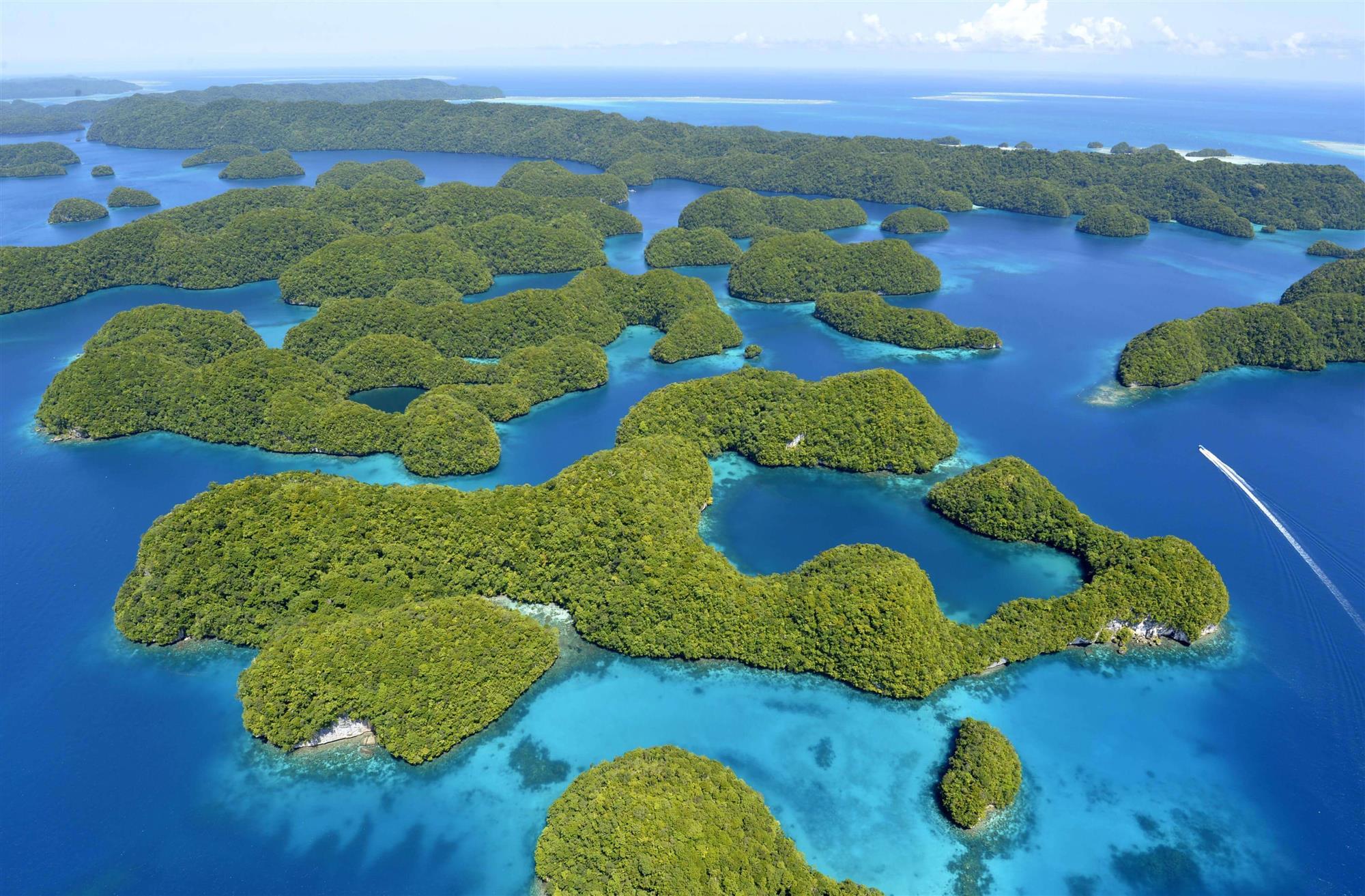 Las lagunas del sur de Rock Island, Palau