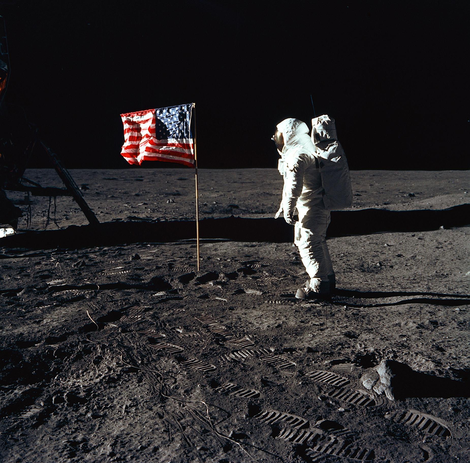 apolo 11 bandera astronautas. El orgullo de Estados Unidos