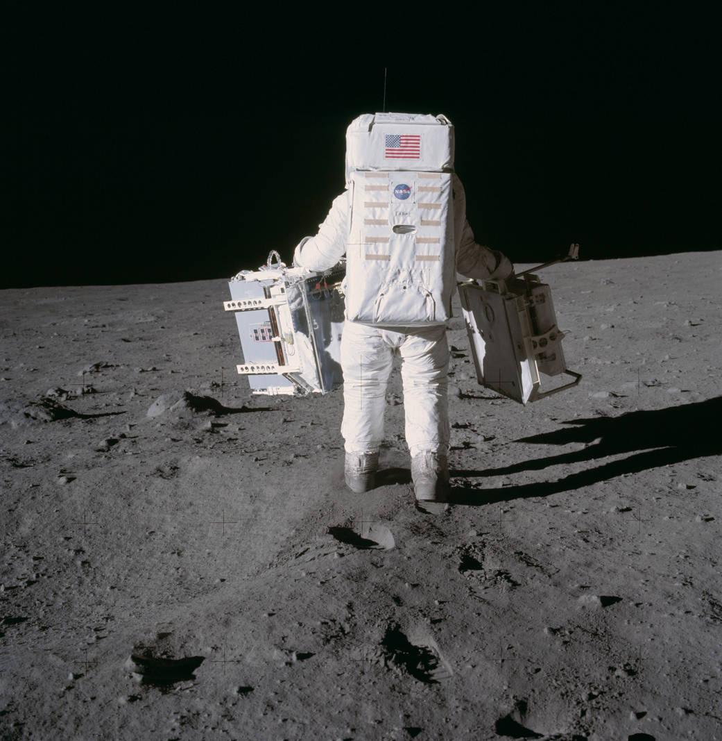 apolo11 aldrin experimento. Experimentos en la superficie lunar