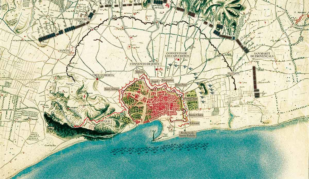 Acr3907649. Mapa de la defensa de la ciudad