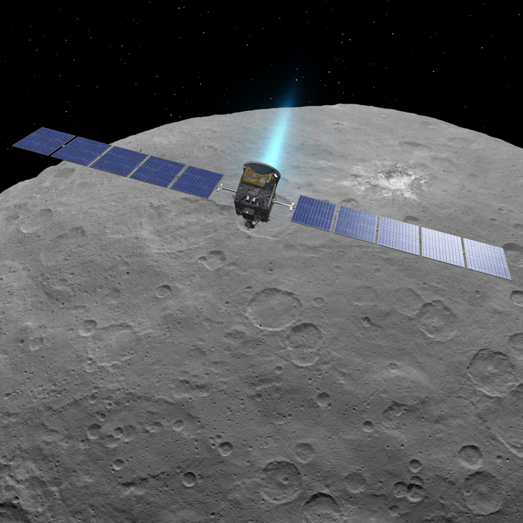 ceres4. Dawn sobrevuela Ceres