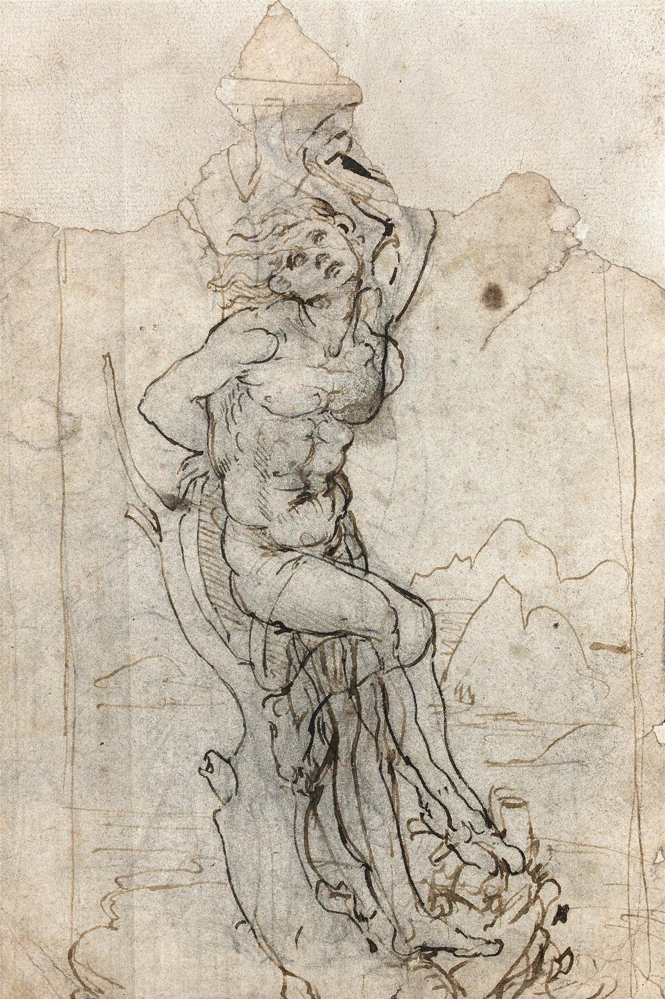 Una casa de subastas francesa descubre un dibujo de for Vinci una casa