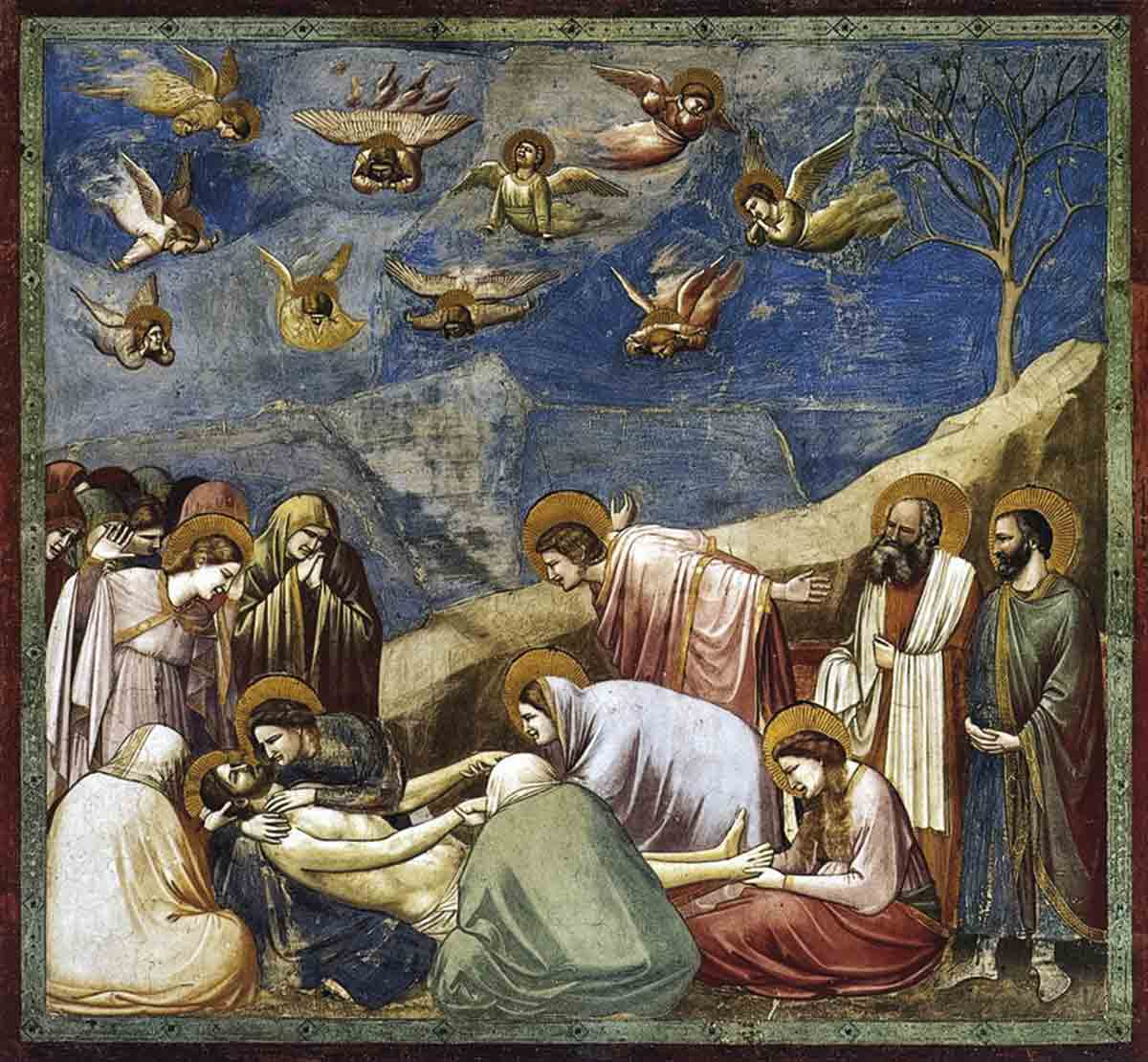 Giotto - Scrovegni - -36- - Lamentation (The Mourning of Christ). Descendimiento de la cruz