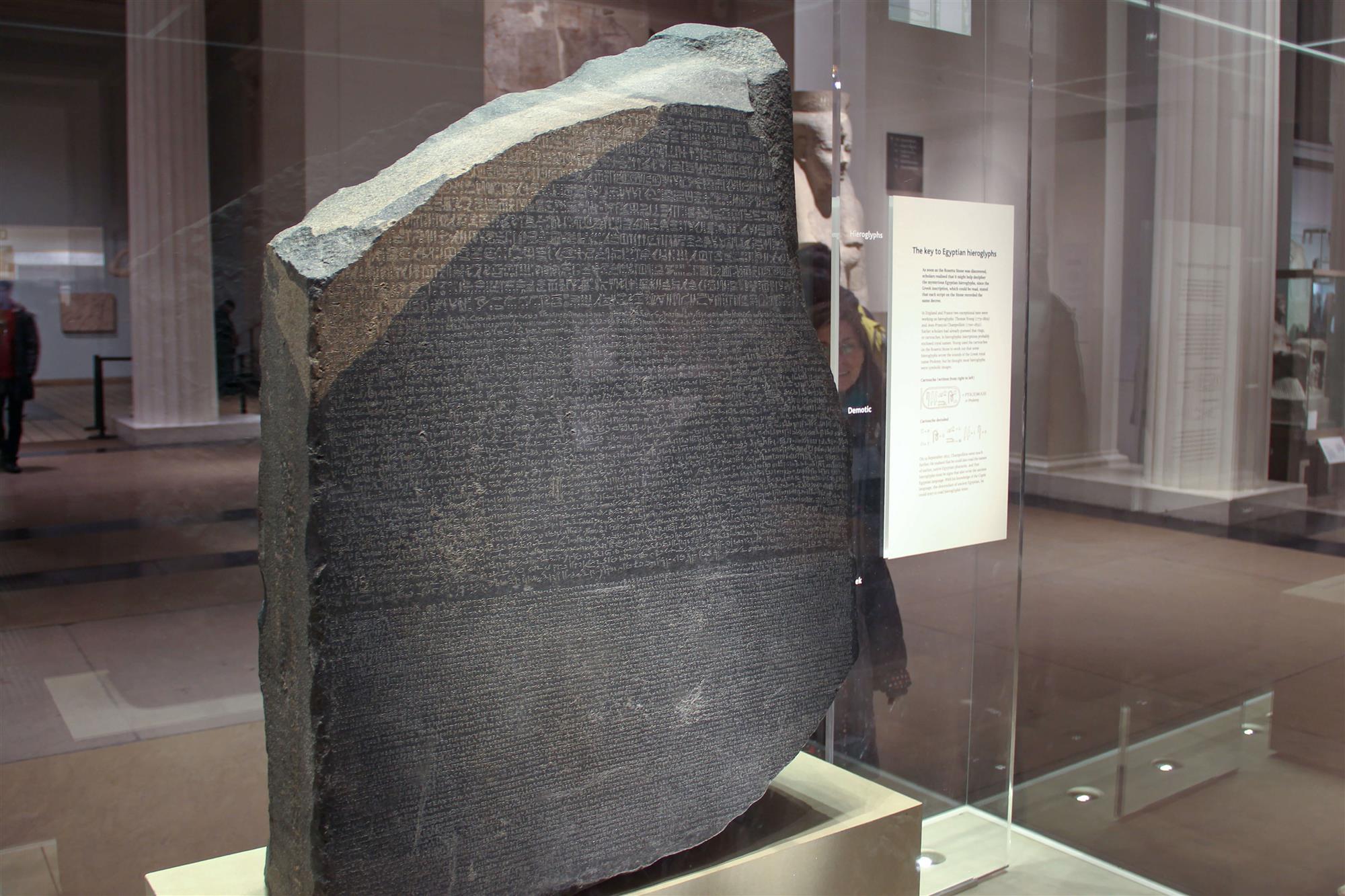 El descubrimiento de la piedra de Rosetta