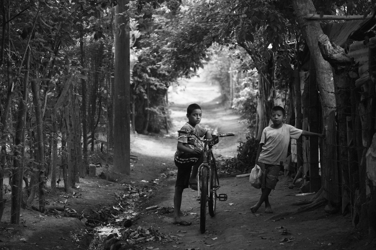 """Two young boys in rural Nicaragua"""