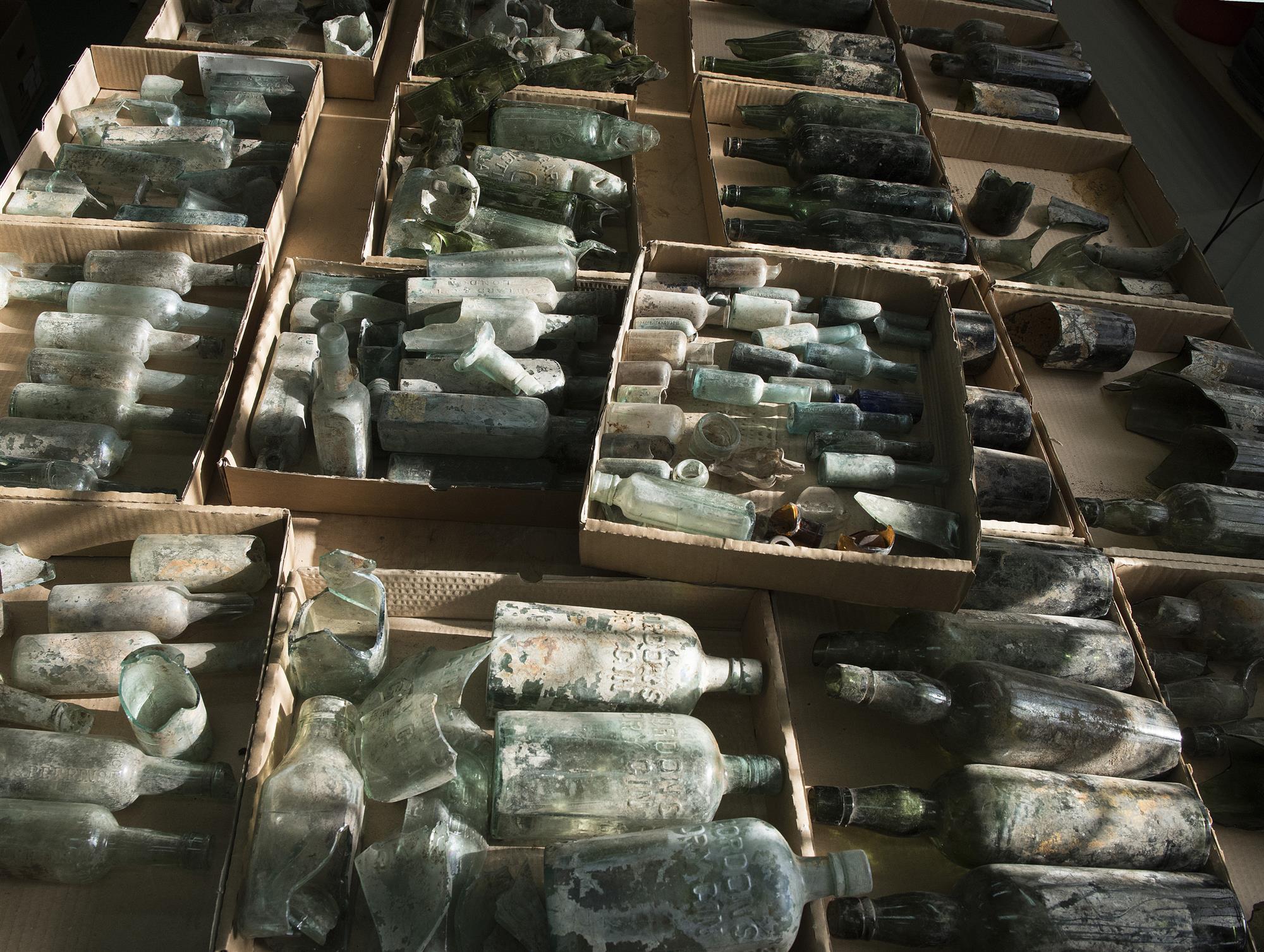 Botellas de la Primera Guerra Mundial