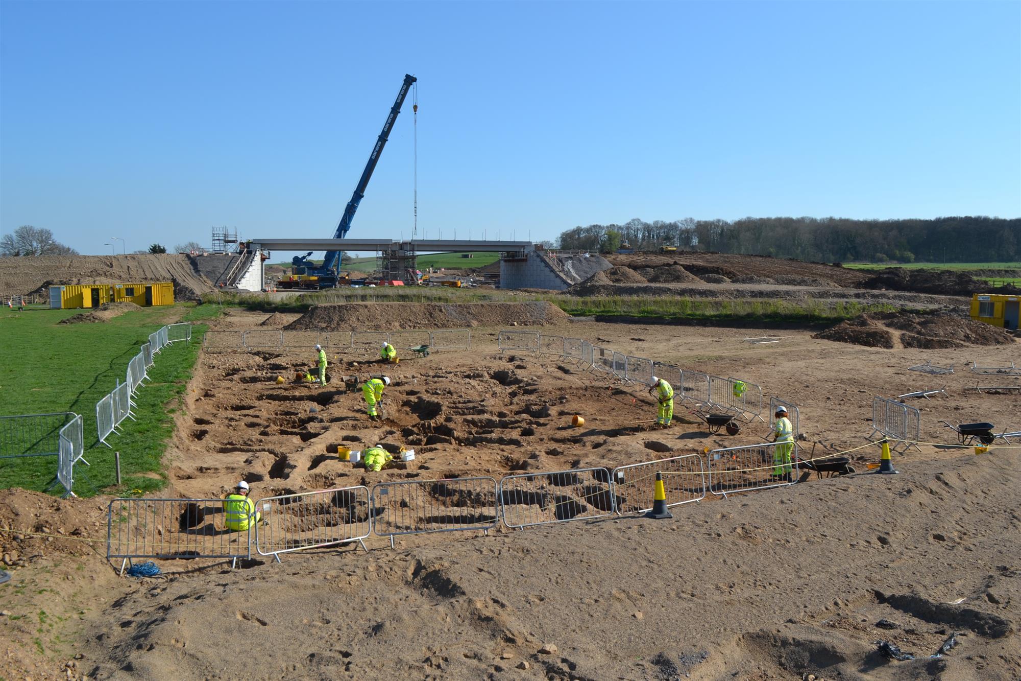 Excavación de un cementerio