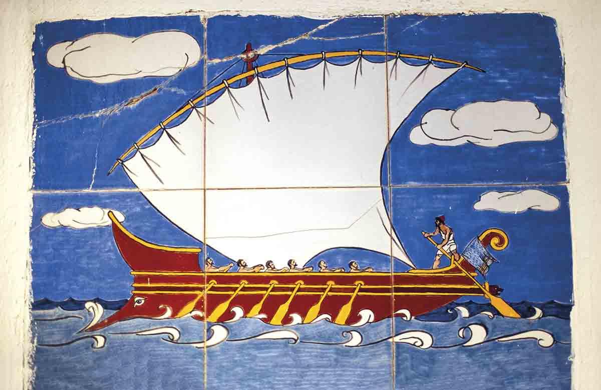 IMM-YAN-01106639. Mural en Vathy