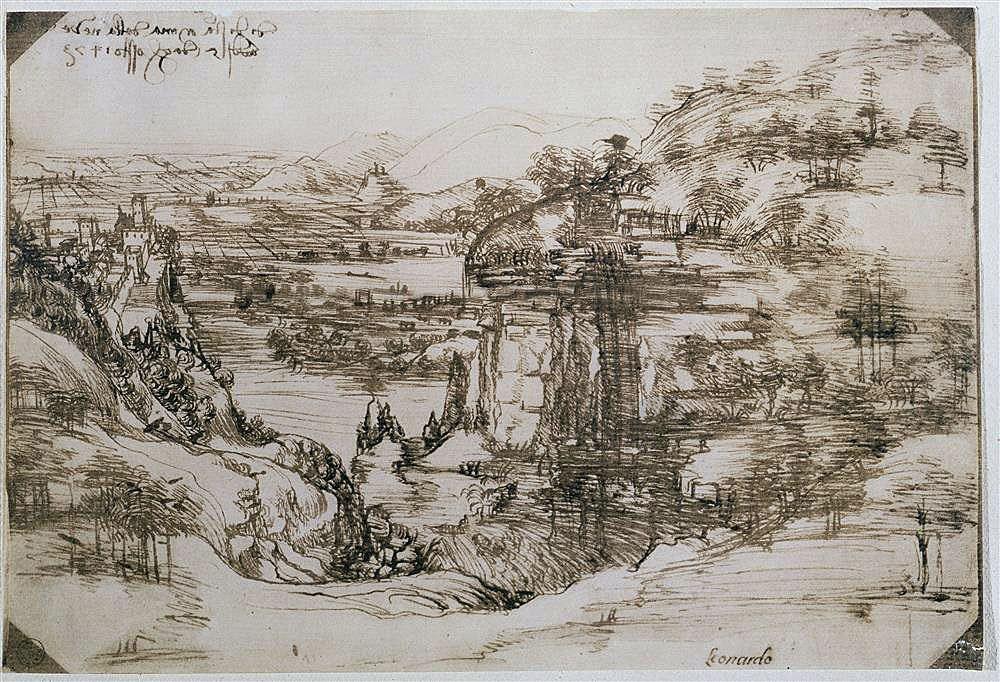 Paisaje del valle del Arno