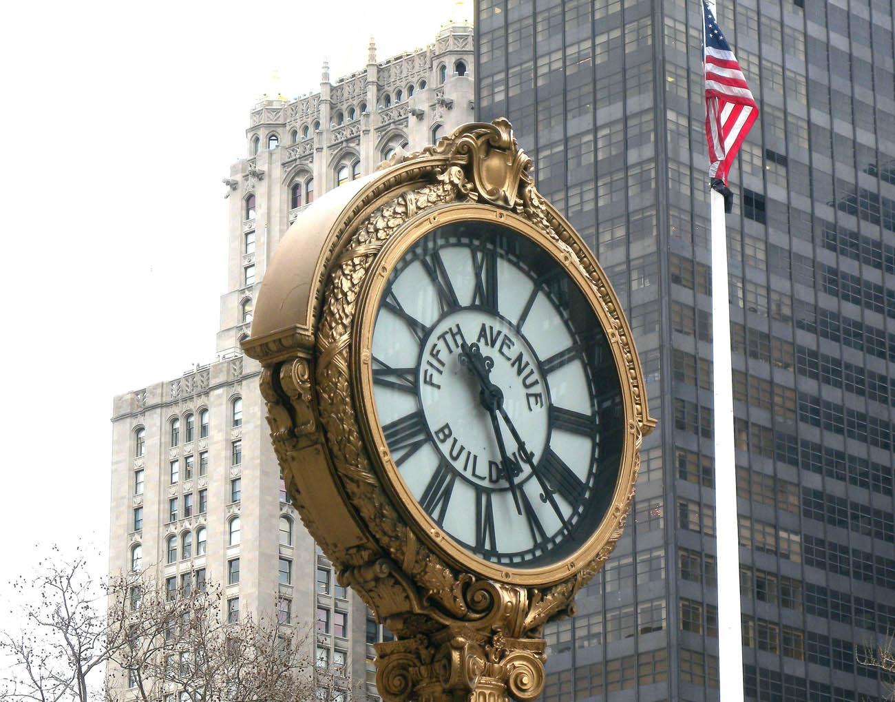 Un reloj en la ciudad que nunca duerme