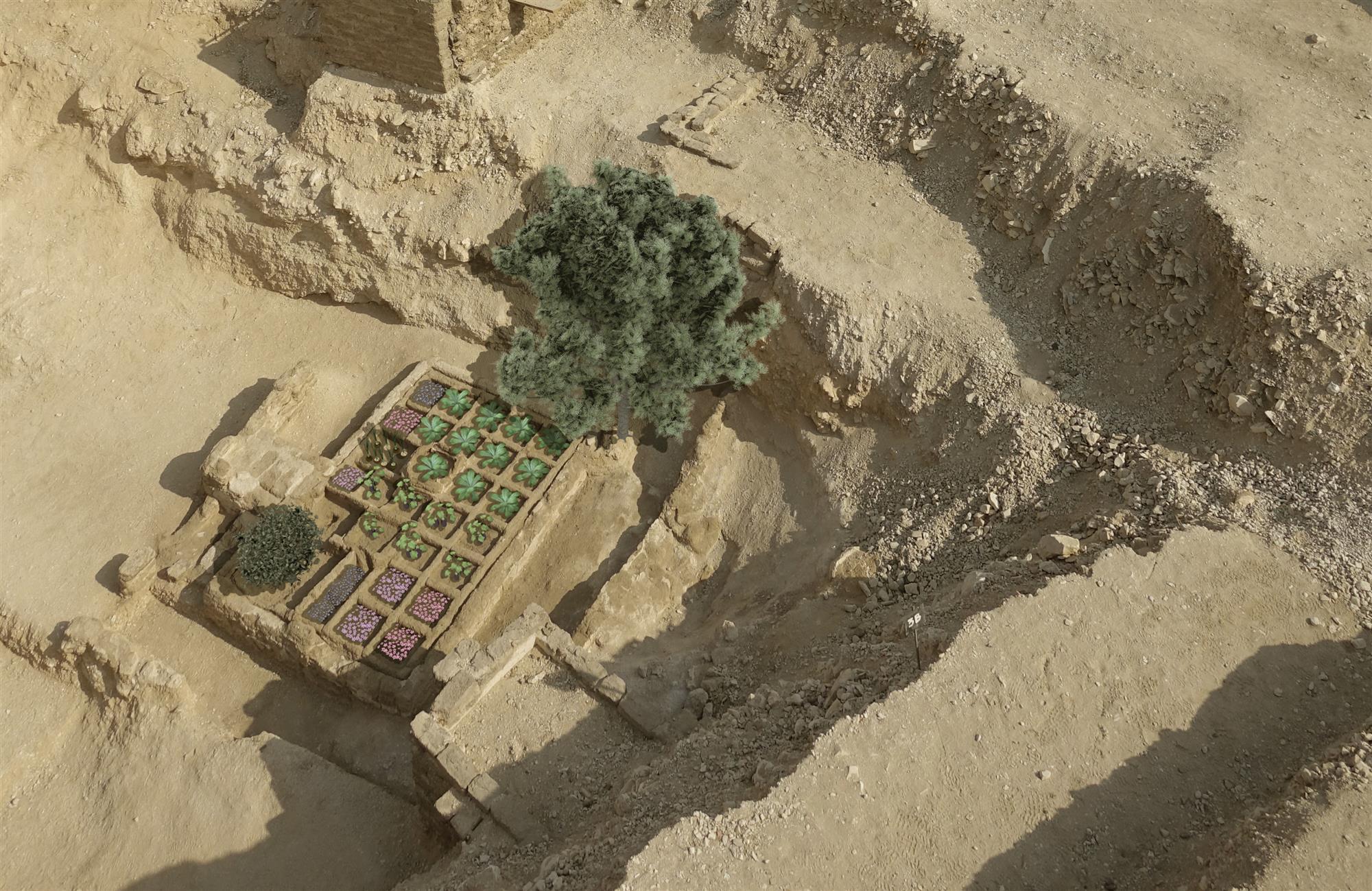 Reconstrucción del jardín funerario