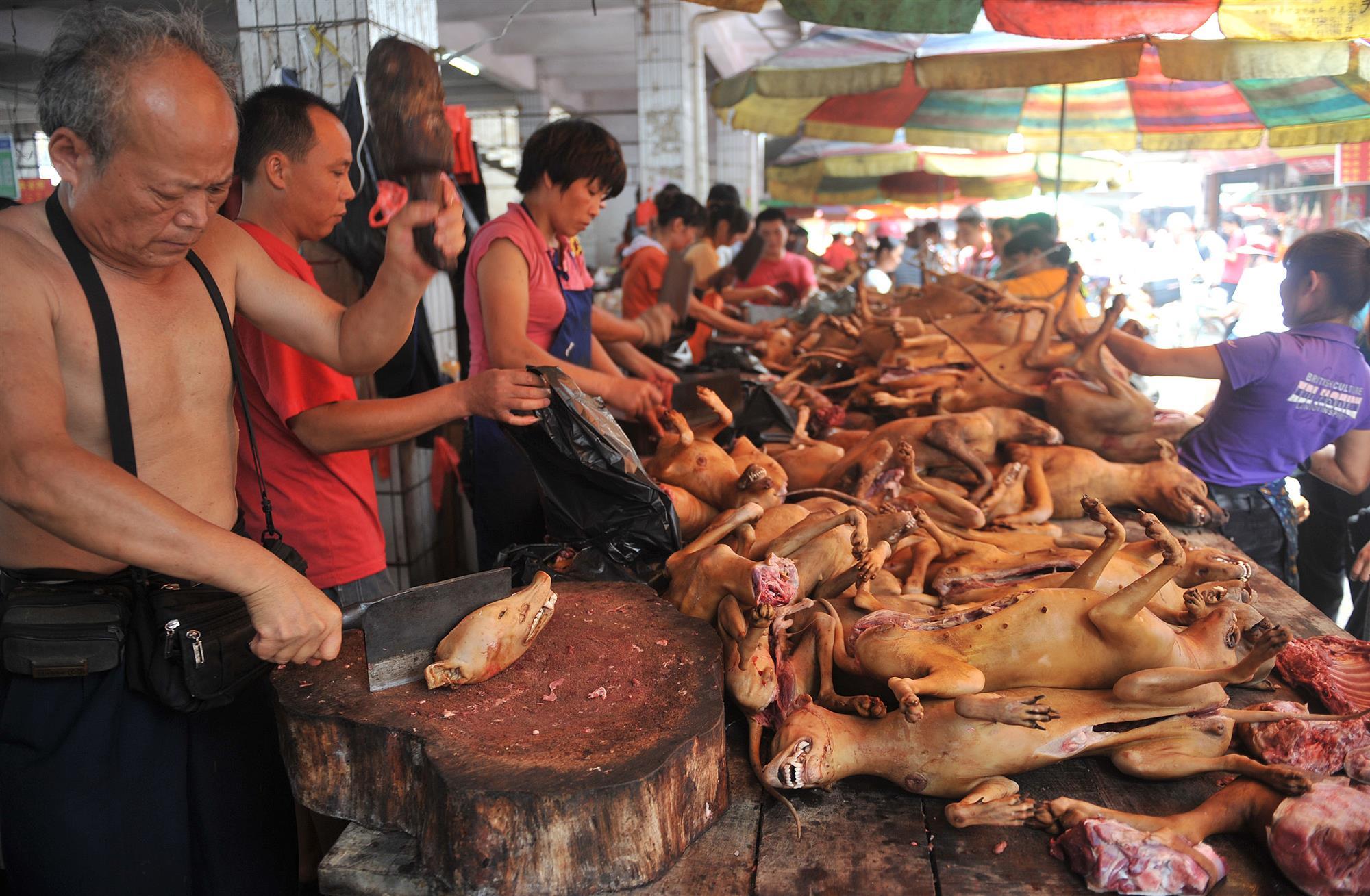 Resultado de imagen para mercado comida carne china