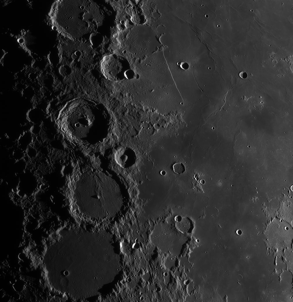 Evening in the Ptolemaeus Chain and Rupes Recta Region