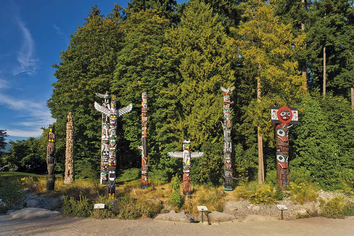 vancouver totems. Brockton Point