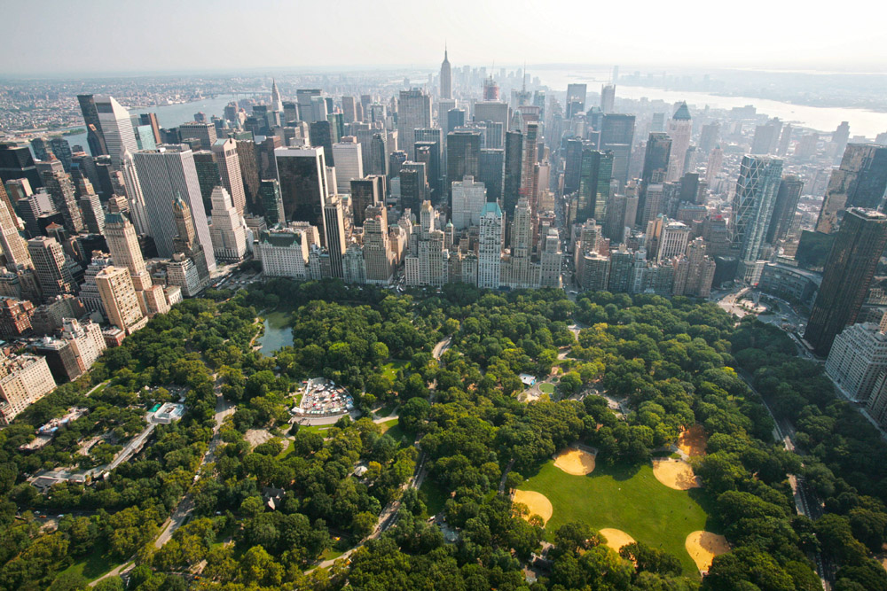 Central Park. El Blue Box Café tiene vistas a Central Park