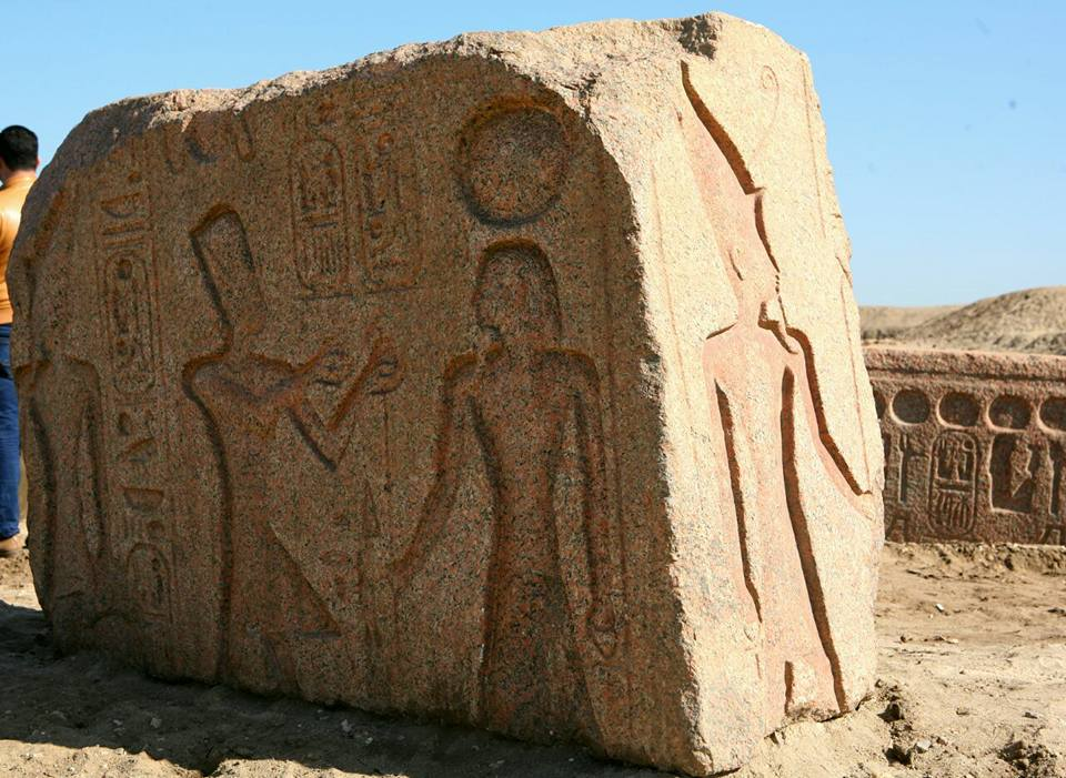 Descubierta una estela del faraón Ramsés II