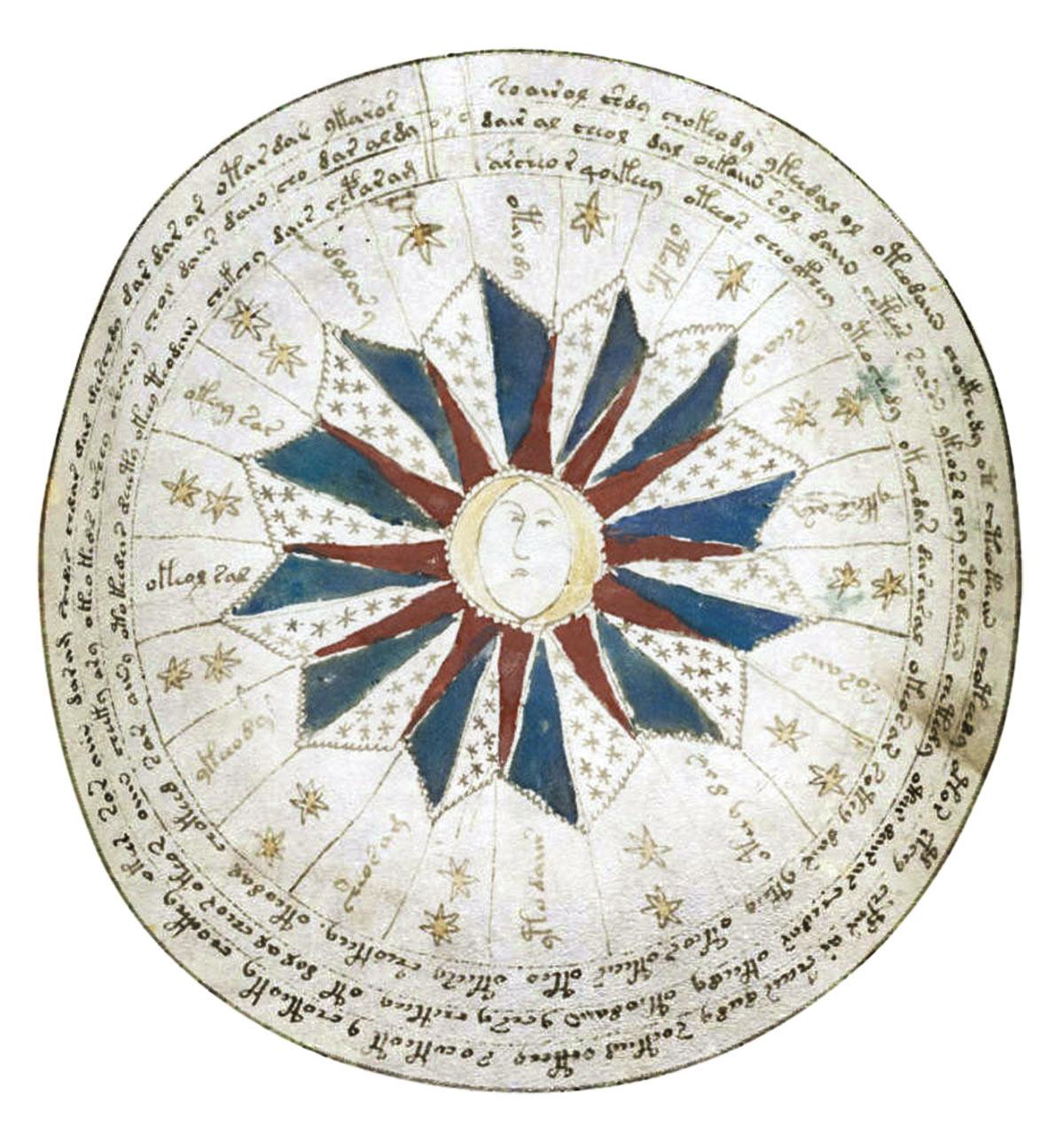 codice-voynich-astronomico. Detalle de un dibujo