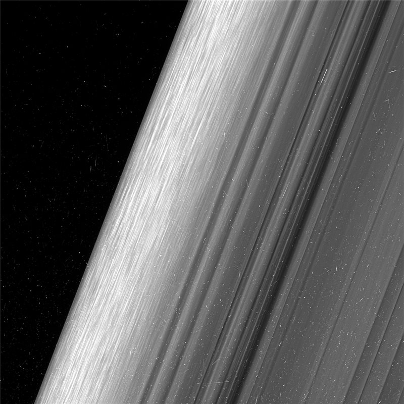 Los anillos de Saturno y Prometeo