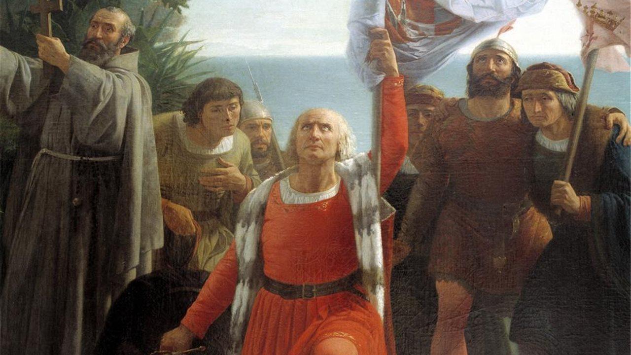 Resultado de imagen para Fotos de Cristóbal Colón avista la primera tierra firme del continente americano, que luego se llamará Venezuela.