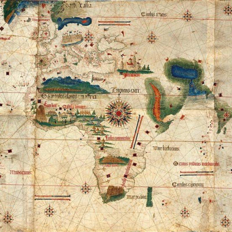 El detallado mapa de Tlacotalpa, realizado por el sevillano Francisco Gali en el siglo XVI
